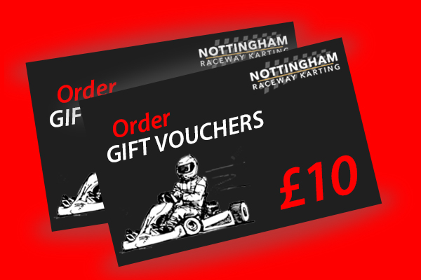 Order our Nottingham kart gift vouchers