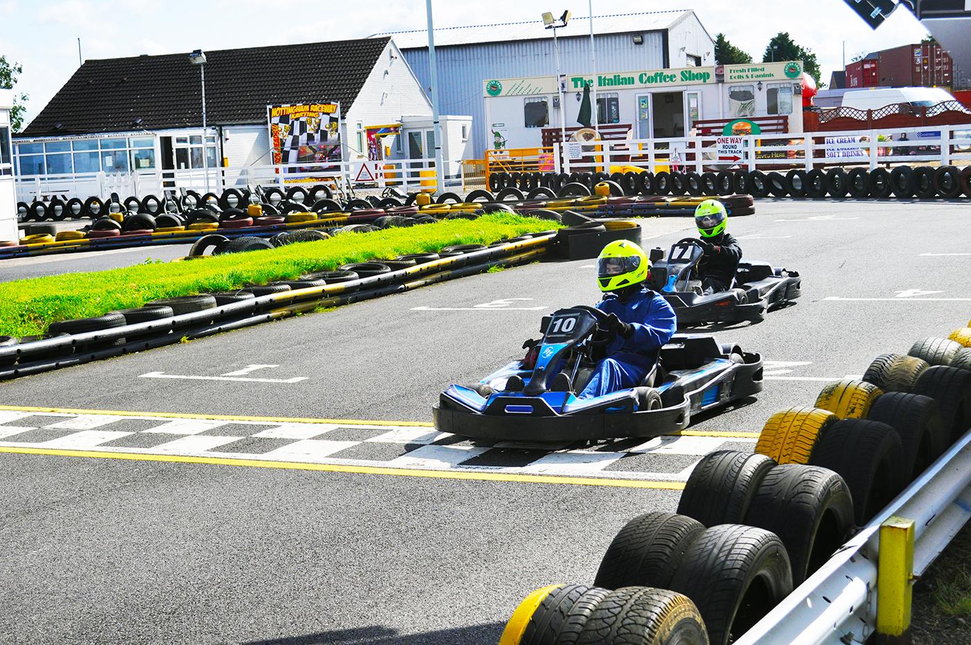 Nottingham Raceway Karting racing